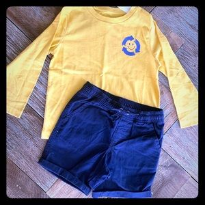 Other - Nwt Gymboree boys recycle shirt and shorts 2t